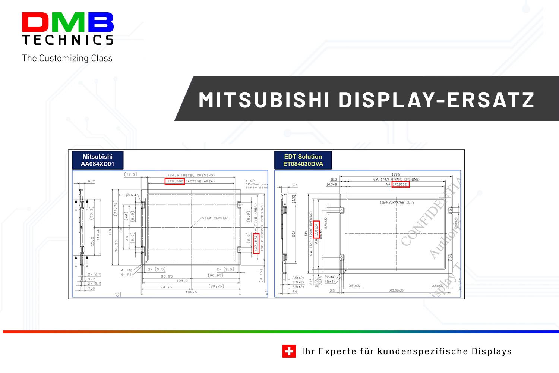 EDT Mitsubishi Ersatz Display